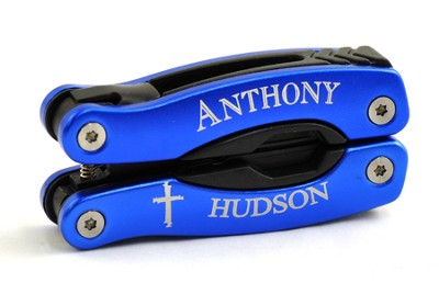Personalized, Cross Blue Multi Tool   -
