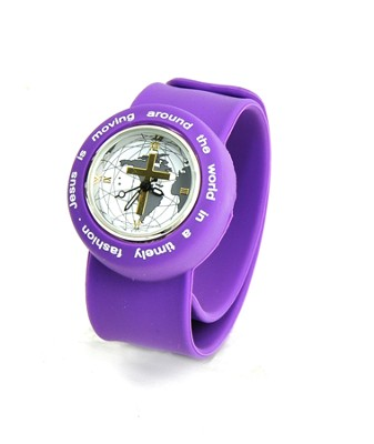Silicone Watch, Jesus Is Moving Around the World, Purple  -