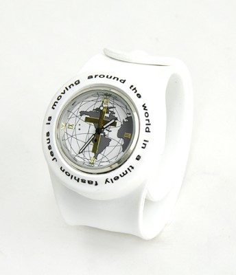 Silicone Watch, Jesus Is Moving Around the World, White, Large  -