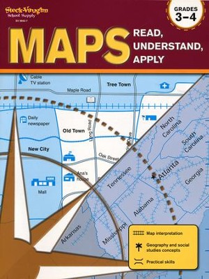 Maps: Read, Understand, Apply Grades 3-4  -