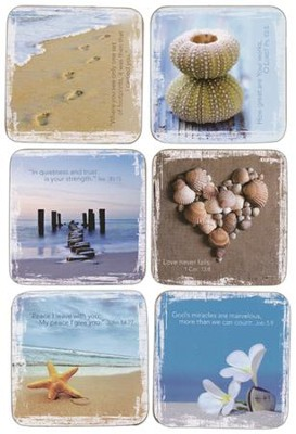 Ocean Treasures Coasters, Set of 6  -