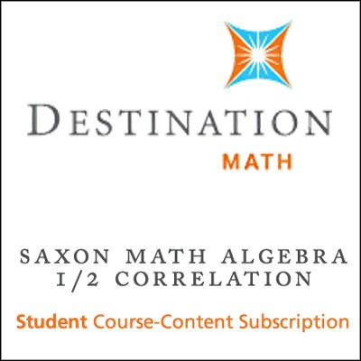 Saxon Algebra 1/2 (3rd Edition) Destination Math Levels 4, 5 & Mastering Algebra 1 12-Month Online Subscription (Content Only)  -
