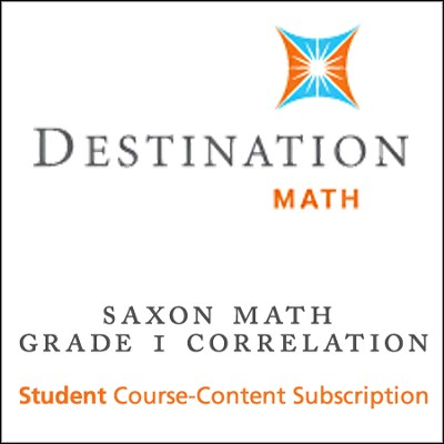Saxon Grade 1 Destination Math Levels 1 & 2 12-Month Online Subscription (Content Only)  -