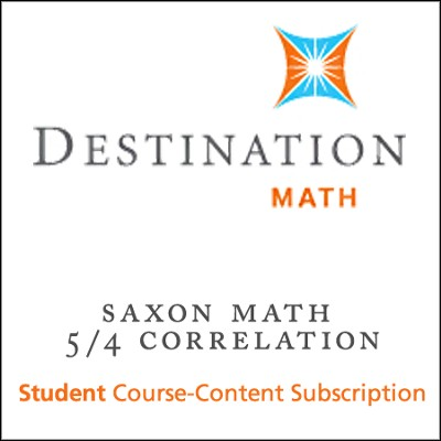 Saxon 5/4 (3rd Edition) Destination Math Levels 1, 2 & 3 12-Month Online Subscription (Content Only)  -