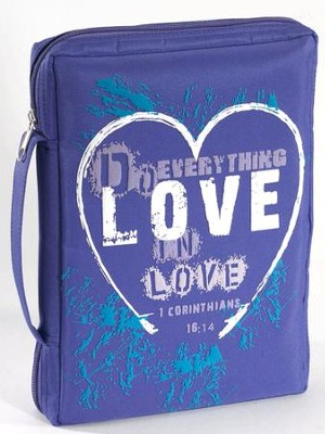 Love Microfiber Bible Cover  -