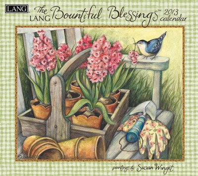2013 Bountiful Blessings Wall Calendar  -     By: Susan Winget     Illustrated By: Susan Winget