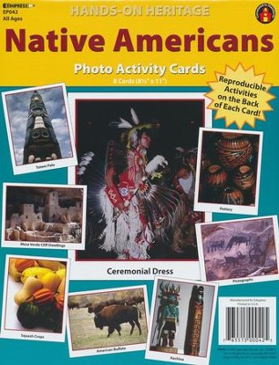 Native Americans Photo Activity Cards  -
