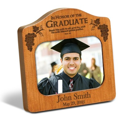 Personalized Graduate Photo Frame, Cherry   -