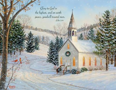 Church, Country Cheer Christmas Cards, Box of 18  -     By: Sam Timm