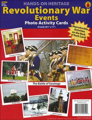 Revolutionary War Events Photo Activity Cards  -