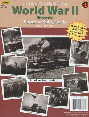 WWII Events Photo Activity Cards  -
