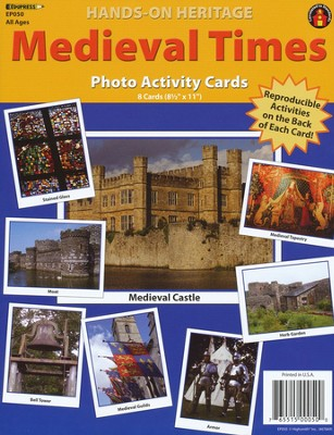 Medieval Times Photo Activity Cards  -