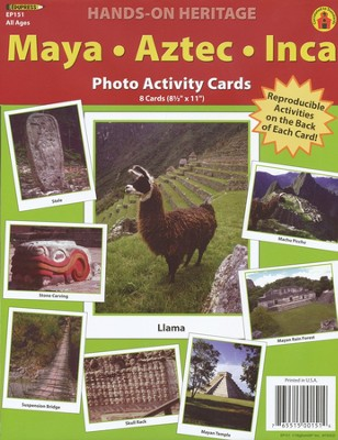 Maya, Aztec, Inca Photo Activity Cards  -