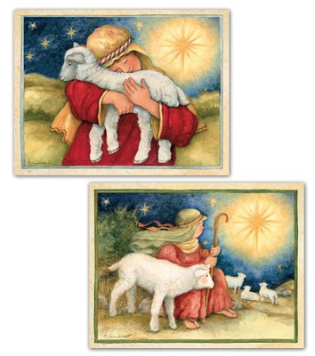 The Lord Is My Shepherd Assorted Christmas Cards, Box of 18  -     By: Susan Winget