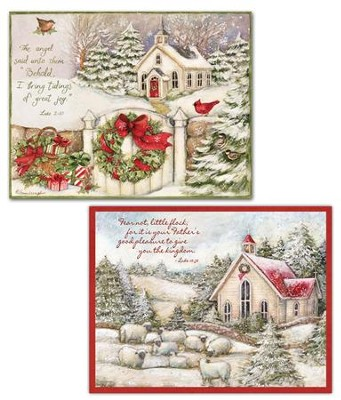Little Church Assorted Christmas Cards, Box of 18  -     By: Susan Winget