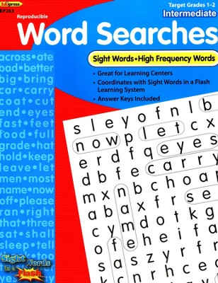 Sight Word Searches, Intermediate, Grades 1-2  -