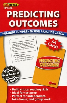 Predicting Outcomes Reading Comprehension Practice Cards - Red 2.0-3.5  -