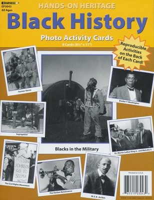 Black History Photo Activity Cards  -