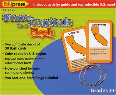 State Capitals in a Flash Flash Cards  -