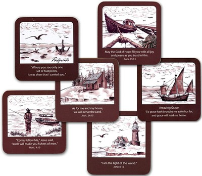 Lighthouse Coasters, Set of 6  -