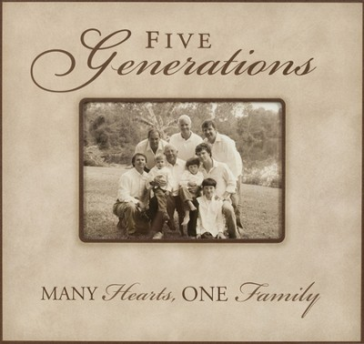 Five Generations: Many Hearts, One Family--Photo Frame  -