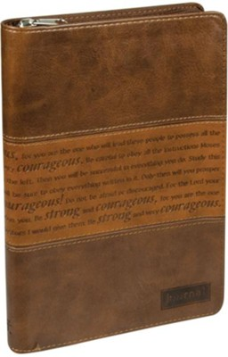 Journal, Strong and Courageous, Brown  -