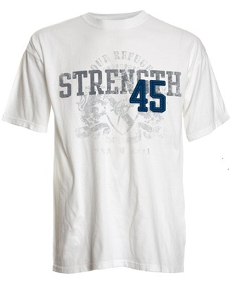 Strength 45 Applique Shirt, Ivory,   Small  -