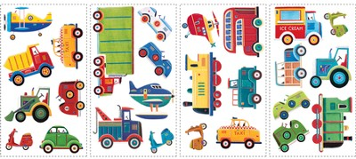 Transportation Vinyl Wall Stickers  -