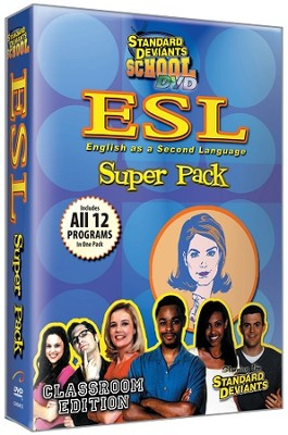 Standard Deviants School ESL 12 Pack DVD   -