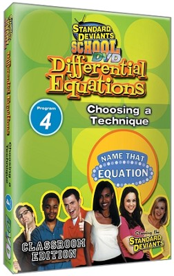 Differential Equations Module 4: Choosing a Technique DVD  -