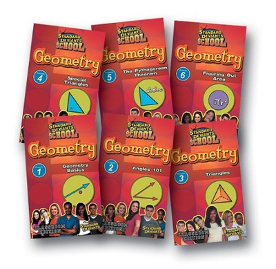 Standard Deviants School Geometry Super Pack  (7 Pack) DVDs  -