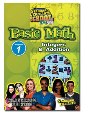 Standard Deviants School Basic Math Module 1:  Integers and Addition DVD  -