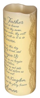 Lords Prayer Flameless Candle  -