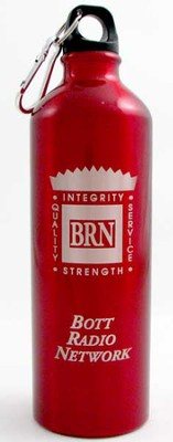 Bott Network Metal Water Bottle, Red   -