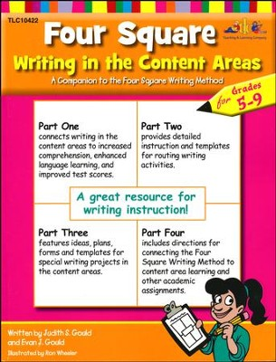 Four Square Writing in the Content Areas, Grades 5-9   -     By: Judith S. Gould, Evan Jay Gould