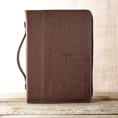 LuxLeather Names of Jesus Bible Cover, Large   -