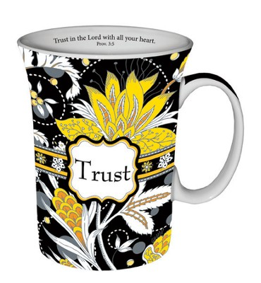 Paisley Mug with Coaster, Trust  -
