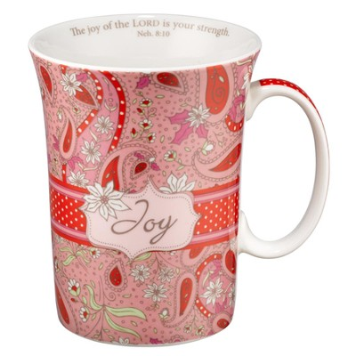 Paisley Mug with Coaster, Joy  -