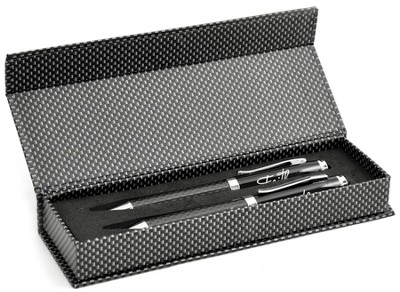 Carbon Fiber Pen Set, Faith, Black, Gift Boxed  -