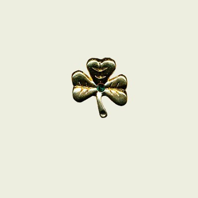 Celtic Lapel Pin, Shamrock, Irish Blessing  -
