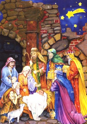 Nativity Star: Greeting Card Advent Calendar  -
