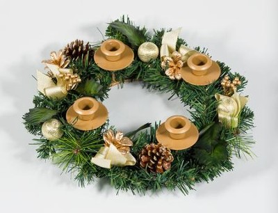 Traditional Pine Cone Advent Wreath  -