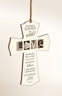 For God So Loved Mini Cross  -