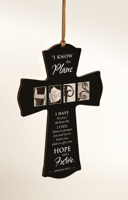 Hope, I Know the Plans Mini Cross  -