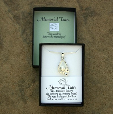 Memorial Tear Cremation Pendant   -