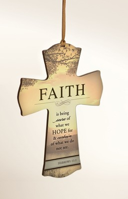 Faith is Being Sure Mini Cross  -