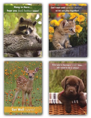 Children's Get Well Card Assortment, Box of 12  -