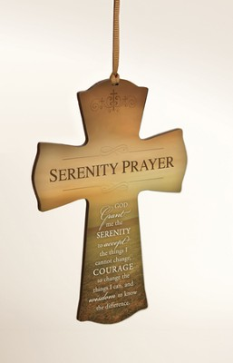 Serenity Prayer Mini Cross  -