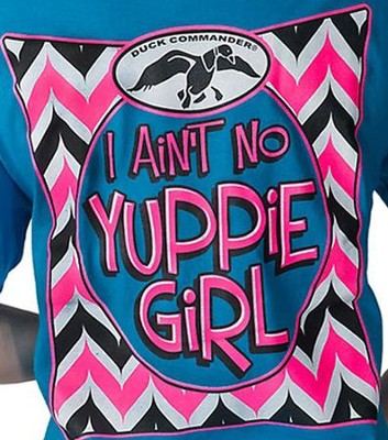 I Aint; No Yuppie Girl Shirt, Blue, Youth X-Small  -