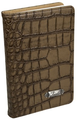 Faith, Croc Embossed Journal, Khaki  -